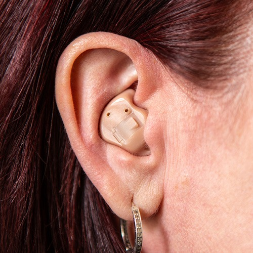 In The Ear Hearing Aid being worn